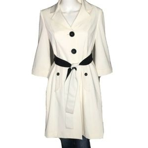 ELIE TAHARI Womens Trench Coat Belted Pockets